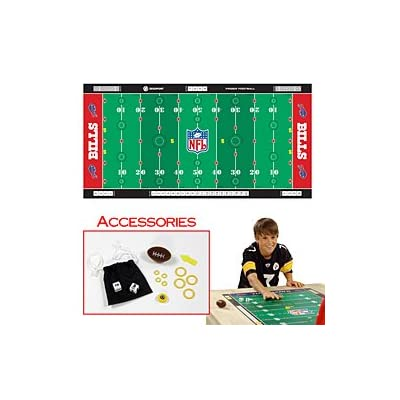 New Trademark NFLR Licensed Finger Football Game Mat Bills 48 X 24 Surface W/Scoreboard Graphics