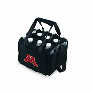 Picnic%20Time NCAA Minnesota Golden Gophers Beverage Buddy Insulated 12-Pack Drink Tote, Black