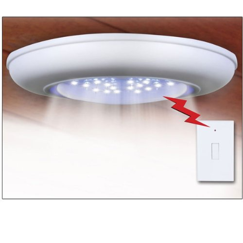 Cordless Electric Ceiling-Wall Light With Remote