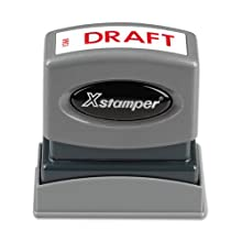 SHACHIHATA INC Draft-Inch Ink Stamp, 1/2 x 1-5/8 Inches, Red Ink (XST1360)