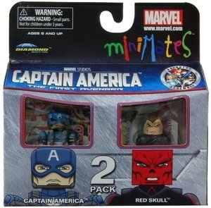 Sale alerts for Art Asylum Marvel MiniMates Series 40 Mini Figure 2Pack Captain America Red Skull - Covvet
