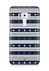YuBingo Star and Stripes Designer Mobile Case Back Cover for Asus Zenfone 3 552 KL