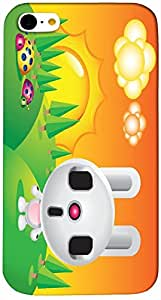 Timpax protective Armor Hard Bumper Back Case Cover. Multicolor printed on 3 Dimensional case with latest & finest graphic design art. Compatible with Apple iPhone 5-C Design No : TDZ-28803