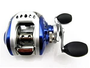 New 8+1 Ball Bearings Low Profile Baitcasting Fishing Reel Right Handed Blue