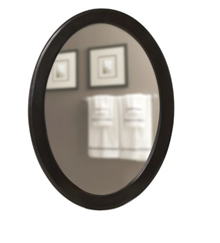 Schon SC80008 Oval Mirror, Walnut