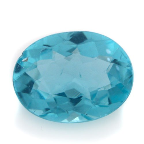 Natural Blue Apatite Loose Gemstone Oval Cut 6*7mm 1.20cts I Grade Amazing