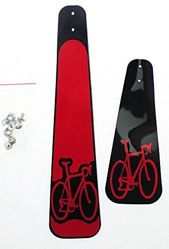 BUDDY FLAPS Reflective Mud Front + Rear Fenders Road MTB Bike Rain Pair NEW (Mtb Mud Flap compare prices)