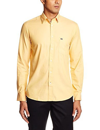 Arrow Sports Men's Casual Shirt (8907378605832_ASRS3333_42_Medium Yellow)  available at amazon for Rs.759