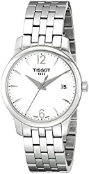Tissot Women's T0632101103700 Tradition Analog Display Quartz Silver Watch