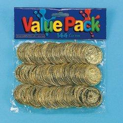 Plastic Gold Coins (12 dozen) - Bulk