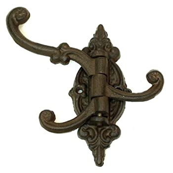 1 X IWGAC 0170S-01758 Cast Iron Swivel 3-Hook Single