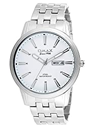 OMAX Analog White Dial Mens Watch - SS412