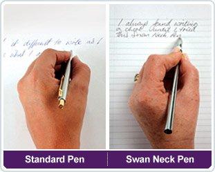 Lot de 2 stylos Rose col de cygne la logique solution d'écriture.