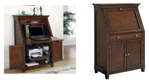 Bradley Laptop Armoire Cherry Finish Review