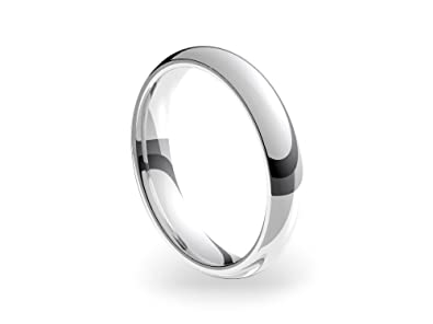 Platinum Heavy Court 4mm Wedding Ring