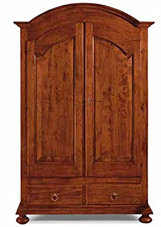 Bioecoshop 2 Door Wardrobe Made of Organic Environmentally-Friendly Solid Poplar IL SIR Dimensions 125 x 61 cm Height 200cm Made in Italy