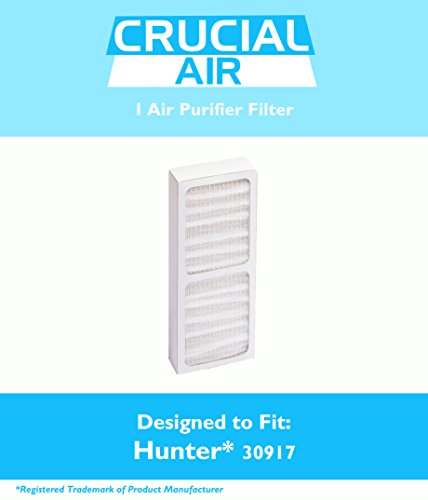 Hunter 30917 Air Purifier Filter Fits Model 30027 & 30028, Designed & Engineered by Crucial Air (Hunter Replacement Filter 30917 compare prices)