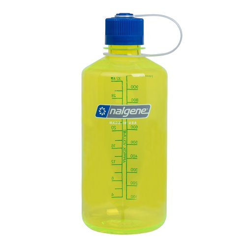 Nalgene Narrow Mouth Water Bottle, Safety Yellow, 1-Quart (Nalgene Water Bottle Narrow Mouth compare prices)