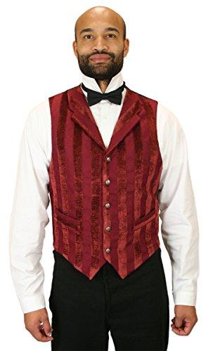 Historical-Emporium-Mens-Striped-Velvet-Thompson-Vest