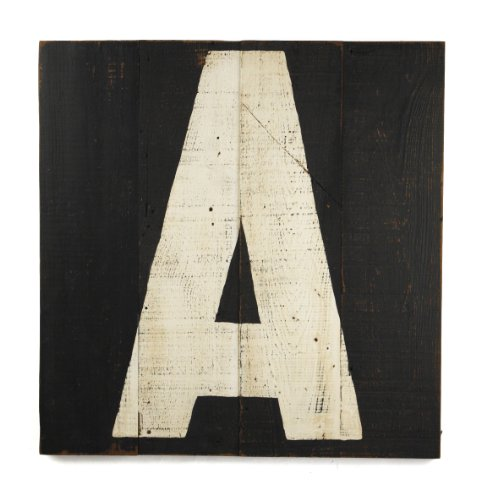 ZENTIQUE Wooden Letter, Monogrammed A - 1