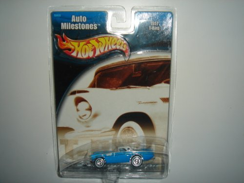 2002 Hot Wheels Auto Milestones 1957 T-Bird Blue/White - 1
