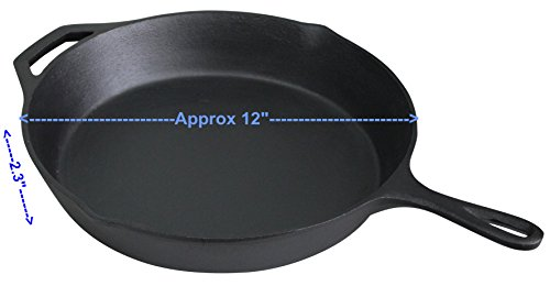 Ewei's Homeware 12 inch Pre Seasoned Cast Iron Skillet Pan