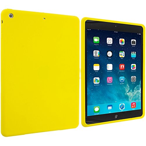 Cell Accessories For Less (Tm) Yellow Silicone Soft Skin Case Cover For Apple Ipad Air // Free Shipping By Thetargetbuys front-884923