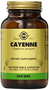 Solgar Cayenne Vegetable Capsules, 100 Count