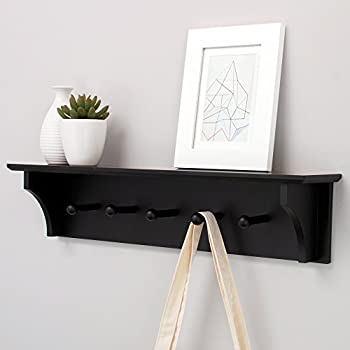 Kiera Grace Foster Wall Shelf with 5 Pegs, 24