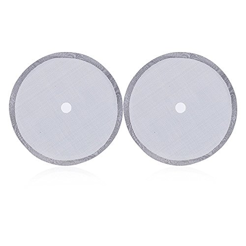 French Coffee Press Replacement Filter Screen, 2 Pack, Best Universal 8-Cup (1000ml) Stainless Steel Reusable Filter (Kona French Press Parts compare prices)
