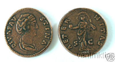 (DD S 61) Sestertius of Faustina Senior COPY