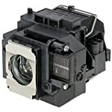 Qcoo ELPLP57 V13H010L57 Replacement Lamp With Housing For Projector Epson 450W 460 EB-440W EB-450W EB-450Wi EB... - B01CCRYLGM