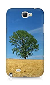 Amez designer printed 3d premium high quality back case cover for Samsung Galaxy Note 2 N7100 (Field economy hay straw preparation summer tree)