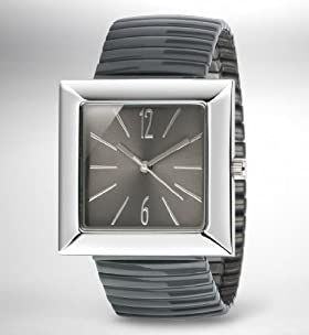 Slim Square Face Expandable Strap Watch