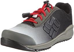 Columbia BC3188 Drainmaker Lace-Up Water Shoe (Toddler/Little Kid/Big Kid),Black/Intense Red,8 M US Toddler