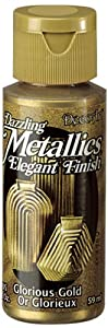 DecoArt Americana Acrylic Metallic Paint, Glorious Gold