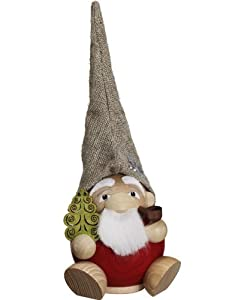 German incense smoker forest dwarf Santa Claus, height 19 cm / 8 inch, original Erzgebirge by Seiffener Volkskunst SV 19035 from Seiffener Volkskunst eG