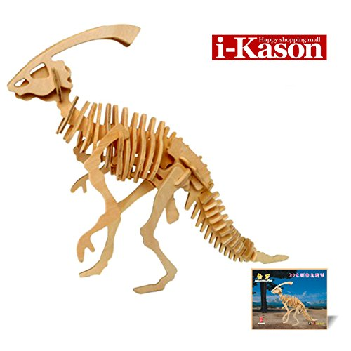 Authentic High Quality i-Kason® New Favorable Imaginative DIY 3D Simulation Model Wooden Puzzle Kit for Children and Adults Artistic Wooden Toys for Children - Ceratopsian