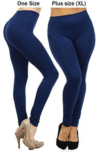 Fashion-Mic-Womens-Regular-and-Plus-Size-Nylon-Seamless-Leggings