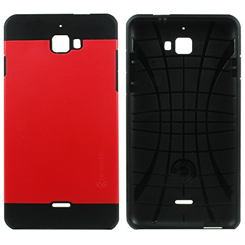 Heartly Cocose Hybrid Slim Dual Layer Hard Rugged Armor Bumper Back Case Cover For Micromax Canvas Nitro A310 A311 Dual Sim - Hot Red