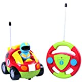 Liberty Imports Cartoon R/C Race Car Radio Control Toy for Toddlers (English Packaging) (Color: Red,green, Tamaño: No Size)