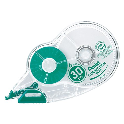 Type 6 mm width 30m one-time-use Pentel Correction Tape...