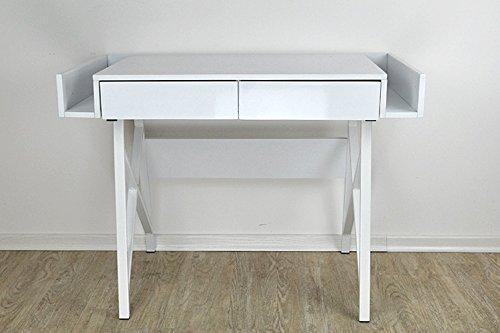 BECO-Computertisch-platzsparend-Laptoptisch-Schreibtisch-Designertisch-Weiss