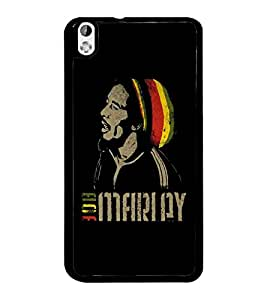 PrintDhaba Singing Man D-5376 Back Case Cover for HTC DESIRE 816 (Multi-Coloured)