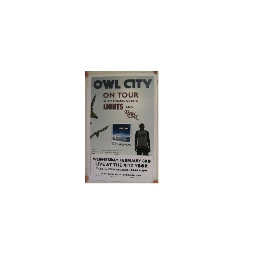 Owl City Poster Handbill Florida Lights on PopScreen