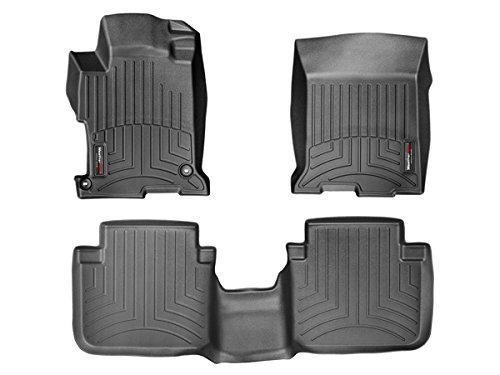 2013-2016 Honda Accord - Weathertech Floor Liners - Full Set (Includes 1st and 2nd Row) - Fits Sedan Only - Black