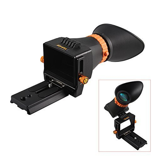"TARION TR-V1 2.5x LCD Viewfinder Displaylupe Mirino con piastra a sgancio rapido per la LCD dimensione del display da 3,0 ""a 3,2"" DSLR come Canon 500D/550D/600D/650D/700D/60D/70D/5D Mark III/6D/7D/7D2 , Nikon D90/D7000/D7100/D5100/D5200/D5300/D3100/D3200/D3300/D600/D610/D300/D700/D800/D800E"