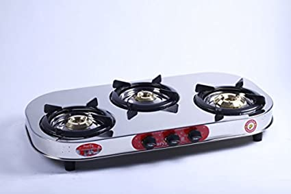 Care SC-SS-304 Gas Cooktop (3 Burner)