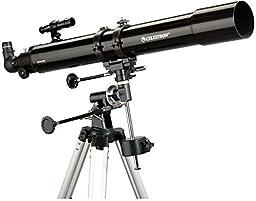Celestron PowerSeeker 80EQ Refractor Telescope Package w/ Motor Drive, 21048-OP