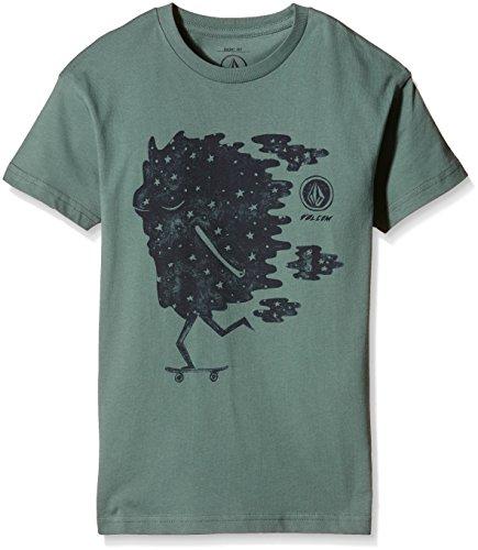 Volcom Skater Basic maglietta, Ragazzo, Skater Basic T-Shirt, Bosco, L